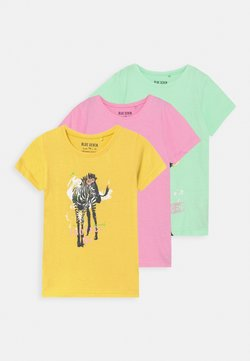 Blue Seven - SMALL GIRLS ZEBRA GIRAFFE 3 PACK - T-Shirt print - multi-coloured