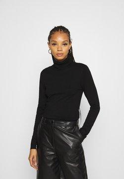 Vero Moda - VMGLORY ROLLNECK - Jersey de punto - black