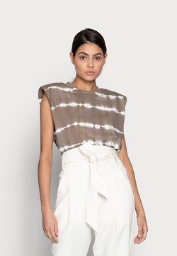 JUST FEMALE - BEIJING TOP - T-Shirt print - taupe