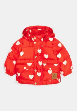 Mini Rodini - BABY HEARTS PICO PUFFER JACKET - Chaqueta de invierno - red
