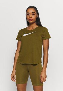 Nike Performance - RUN - Camiseta estampada - olive flak/reflective silv/white