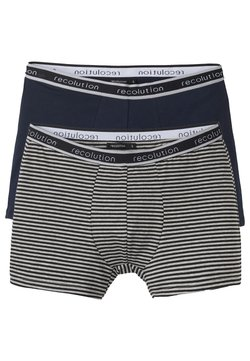 recolution - 2 PACK - Panties - navy / grey melange