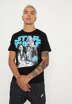 LOGOSHIRT - STAR WARS SOLO AND CHEWBACCA EASYFIT - T-Shirt print - black