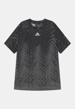adidas Performance - T-shirt z nadrukiem - black