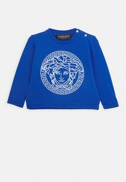 Versace - MAGLIETTA MANICA LUNGA UNISEX - Longsleeve - blue/bianco