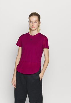 adidas Performance - TEE - T-Shirt print - berry