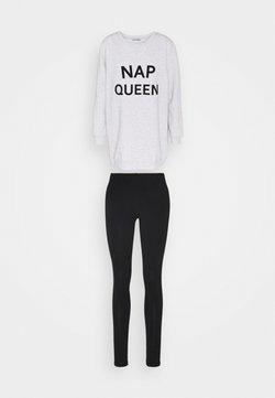 Anna Field - SET - Pyjama - black/grey
