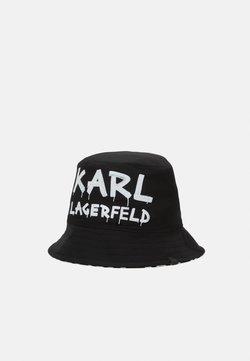 KARL LAGERFELD - GRAFFITI BUCKET HAT - Kapelusz - black/white