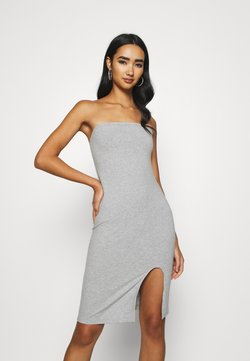 KENDALL + KYLIE - TUBE MINI DRESS - Jerseyjurk - grey