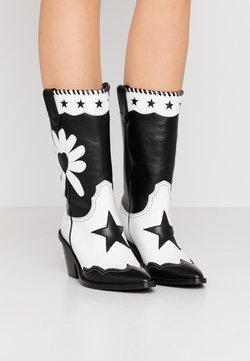 Fabienne Chapot - DOLLY HIGH SPECIAL  - Biker-/cowboysaappaat - black/white