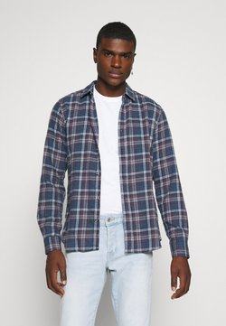 Only & Sons - ONSBOBBY WASHED CHECK - Koszula - dress blues