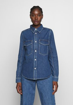 Carin Wester - KAREN - Button-down blouse - denim blue