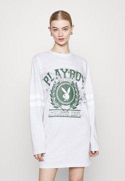 Missguided - PLAYBOY VARSITY BUNNY DRESS - Vestido ligero - grey marl