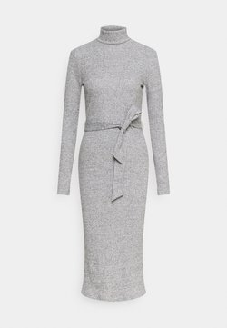 Dorothy Perkins - BRUSHED BODYCON TIE WAIST - Vestido de tubo - grey