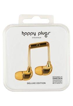 Happy Plugs - DELUXE - Høretelefoner - gold