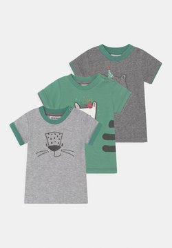Jacky Baby - LEOPARDY 3 PACK - T-shirt con stampa - grey/green