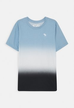Abercrombie & Fitch - DYE EFFECTS - Printtipaita - blue/white/black