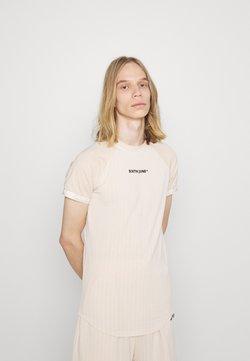 Sixth June - STRIPES SPORT TEE - T-Shirt print - beige