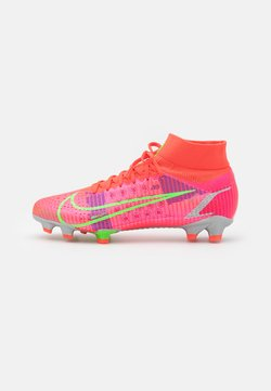 Nike Performance - MERCURIAL 8 PRO FG - Moulded stud football boots - bright crimson/metallic silver