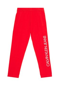 Calvin Klein Jeans - INSTITUTIONAL PANT - Jogginghose - fiery red