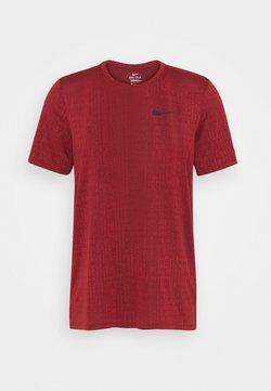 Nike Performance - T-Shirt basic - dark cayenne/black
