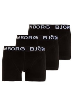 Björn Borg - SOLIDS SAMMY SHORTS 3 PACK - Panties - black beauty