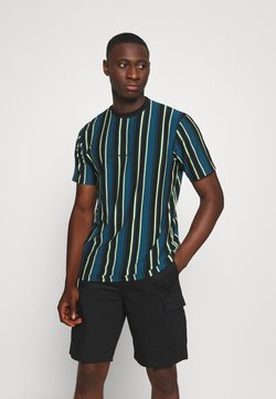 Mennace - MULTI VERTICAL STRIPE - T-shirt imprimé - blue