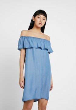 Vero Moda - VMMIA FLOUNCE SUMMER DRESS - Sukienka jeansowa - light blue denim