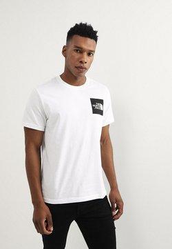 The North Face - FINE TEE - T-shirt print - white/black