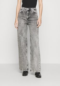 NU-IN - STEFANIE GIESINGER X nu-in HIGH WAIST EXTRA LONG LOOSE FIT JEANS - Jeans Relaxed Fit - black