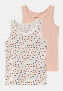 Name it - NMFTANK DOT 2 PACK - Unterhemd/-shirt - peach whip