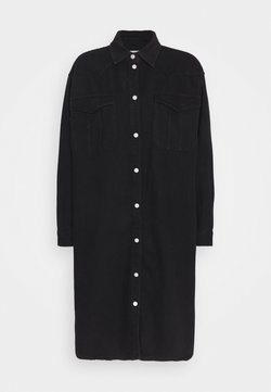 Selected Femme - SLFDORA LONG - Overhemdblouse - black denim