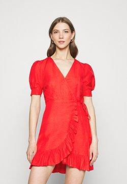 Forever New - BOSTON WRAP SKATER DRESS - Kjole - red