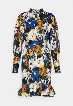 Selected Femme - SLFRONNA TONIA SHORT DRESS - Blusenkleid - sudan brown
