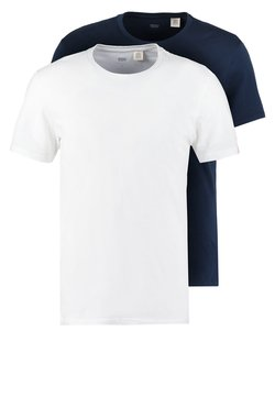 Levi's® - SLIM FIT 2 PACK  - T-Shirt basic - navy/white