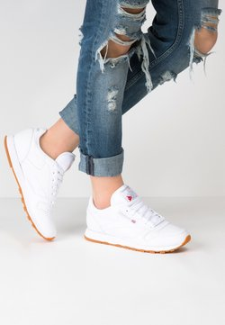 Reebok Classic - CLASSIC LEATHER CUSHIONING MIDSOLE SHOES - Sneaker low - white
