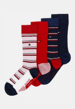 Tommy Hilfiger - KIDS SOCK GIRLS STRIPE 4 PACK - Sokken - navy