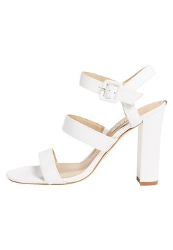 Guess - MELODIE ECHTLEDER - Sandalen met hoge hak - weiß