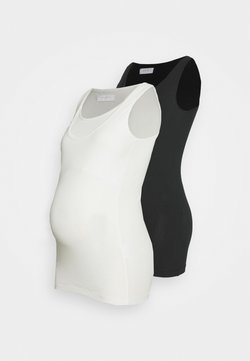 MAMALICIOUS - MLLEA NELL TANK 2 PACK - Top - black/packed show white