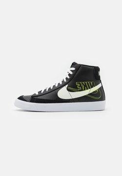 Nike Sportswear - BLAZER MID '77  - Sneakersy wysokie - black/sail/white/volt