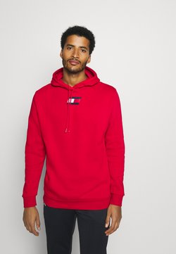 Tommy Hilfiger - FLAG HOODY - Huppari - red