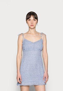 Abercrombie & Fitch - BARE TIE SHOULDER SLIM WAIST MINI - Freizeitkleid - blue