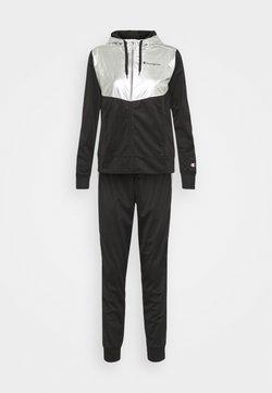 Champion - HOODED FULL ZIP SUIT SET - Trainingsanzug - black
