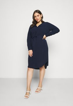 JUNAROSE - by VERO MODA - JRVERONICA SOLID ON KNEE DRESS  - Blusenkleid - navy blazer
