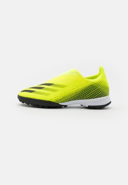 adidas Performance - X GHOSTED.3 LL TF UNISEX - Chaussures de foot multicrampons - solar yellow/core black/royal blue