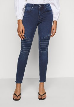 ONLY Petite - ONLROYAL LIFE REG BIKER PETIT - Jeans Skinny Fit - dark blue denim