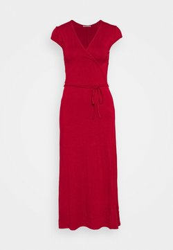 Anna Field - Short sleeves wrap belted maxi dress - Vestido largo - red