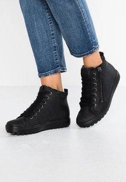 ECCO - SOFT 7 TRED - Sneaker high - black