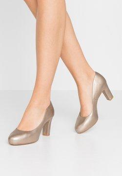 Unisa - NUMIS - Platform heels - lightmetal/mumm