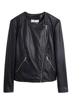 Mango - FELIPA - Leren jas - black